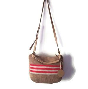 The Sak bag crossbody crochet leather hobo